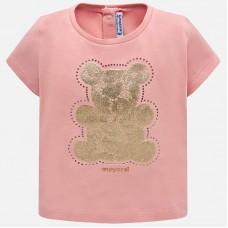 Mayoral Infant Girls Bear T-Shirt - Pink