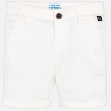 ~Mayoral Kids Boys Chino Shorts - White