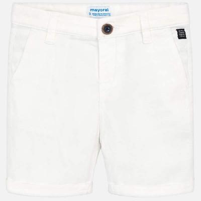 ~Mayoral Kids Boys Chino Shorts - White
