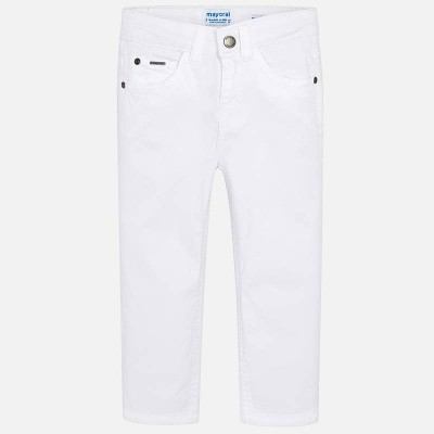 ~Mayoral Kids Boys Slim Fit Trousers - White