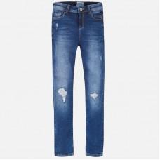 Mayoral Junior Girls Slim Fit Jeans - Blue