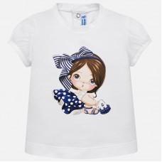 Mayoral Infant Girls Cap Sleeved T-Shirt - White