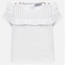 ~Mayoral Infant Girls Ruffled Top - White