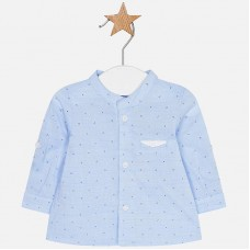 Mayoral Baby Boys Shirt with Mandarin Collar - Blue