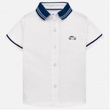 Mayoral Infant Boys Short Sleeved Shirt - White