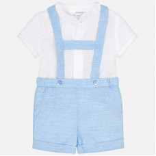 Mayoral Baby Boys Shorts and Shirt Set - White/Sky