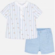 Mayoral Baby Boys Shirt and Shorts - Sky