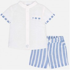 Mayoral Baby Boys Shirt and Shorts - Blue