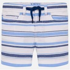 ~Mayoral Infant Boys Striped Shorts - Blue