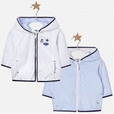 Mayoral Baby Boys Reversible Jacket - White/Sky
