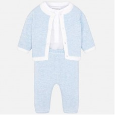 Mayoral Baby Boys Cardigan Set - Sky