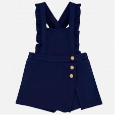Mayoral Infant Girls Dungaree Shorts - Navy