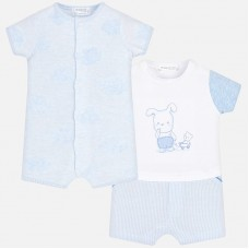 Mayoral Baby Boys Pyjamas x 2 - Sky