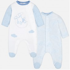 Mayoral Baby Boys Onesie Pyjamas x 2 - Sky