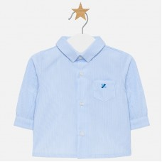 Mayoral Baby Boys Long Sleeved Shirt - Sky