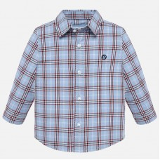 Mayoral Infant Boys Checked Shirt - Blue
