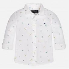 ~Mayoral Infant Boys Long Sleeve Shirt - White