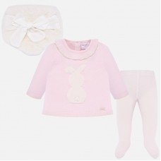 Mayoral Baby Girls 3 x Piece Set - Baby Pink