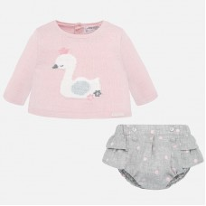 Mayoral Baby Girls Jumper Set - Pink