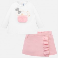 Mayoral Infant Girls Shorts and Top - Pink