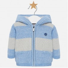 Mayoral Baby Boys Hooded Cardigan - Sky