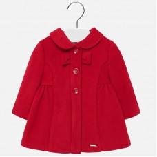 Mayoral Infant Girls Dress Coat - Red