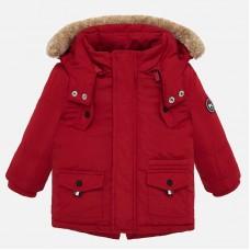 ~Mayoral Infant Boys Hooded Coat - Red