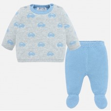 Mayoral Baby Boys Jumper Set - Cloud