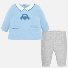 Mayoral Baby Boys T-Shirt and Trousers - Sky