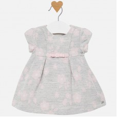 Mayoral Baby Girls Floral Print Dress - Silver