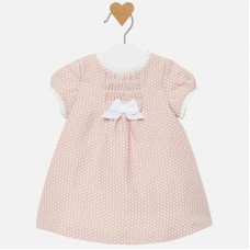 Mayoral Baby Girls Polka Dot Dress - Pink