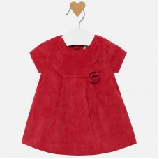 Mayoral Baby Girls Corduroy Dress - Red