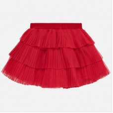 ~Mayoral Infant Girls Tulle Skirt - Red