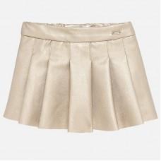 ~Mayoral Infant Girls Leatherette Skirt - Golden