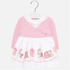 Mayoral Infant Girls Combined Dress - Pink