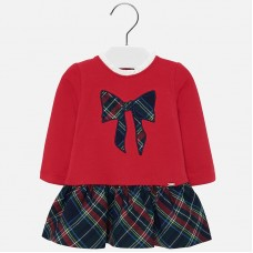 Mayoral Infant Girls Jersey Dress - Red