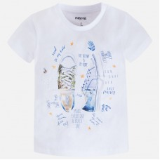 ~Mayoral Kids Girls Printed T-Shirt - White