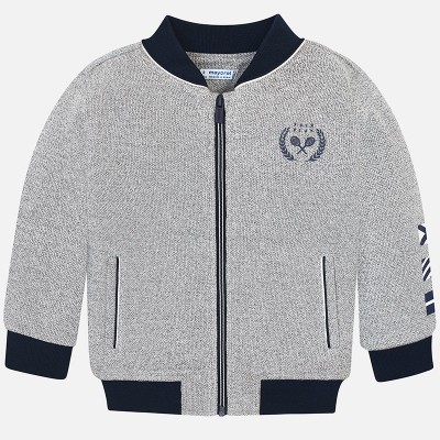 Mayoral Kids Boys Fleece Jacket - Grey