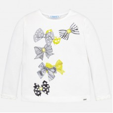 Mayoral Kids Girls Bow T-Shirt - White