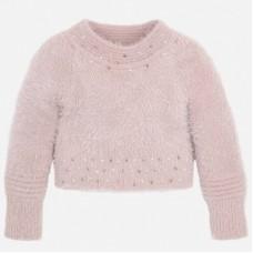 Mayoral Kids Girls Cropped Jumper - Pink