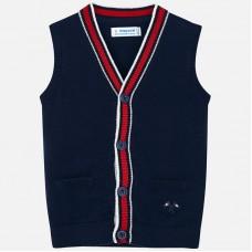 Mayoral Kids Boys Knitted Waistcoat - Navy