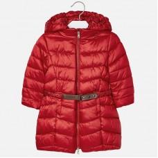 Mayoral Kids Girls Belted Coat - Red