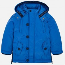 Mayoral Kids Boys Hooded Coat - Blue