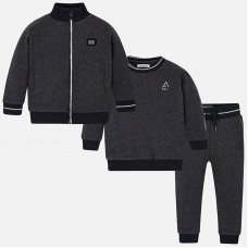 Mayoral Kids Boys Three Piece Tracksuit - Graphite