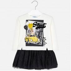 Mayoral Kids Girls Combined Tulle Dress - Black