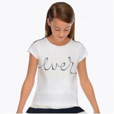 "Mayoral Junior Girls ""Ever"" T-Shirt - White"