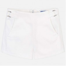 Mayoral Junior Girls Satin Shorts - White