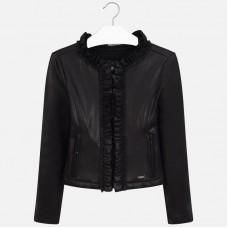Mayoral Junior Girls Ruffle Jacket - Black