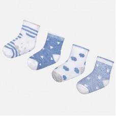 Mayoral Baby Boys Socks x 4 - Blue
