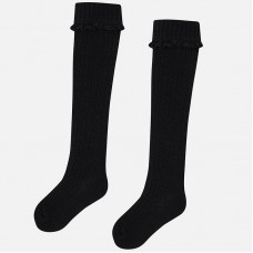 Mayoral Kids Girls Cable Knit Socks - Black